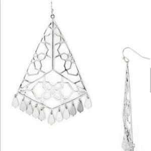 Kendra Scott Samira Silver Filigree Earrings